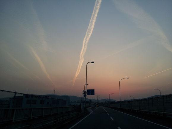 ある日の夕空