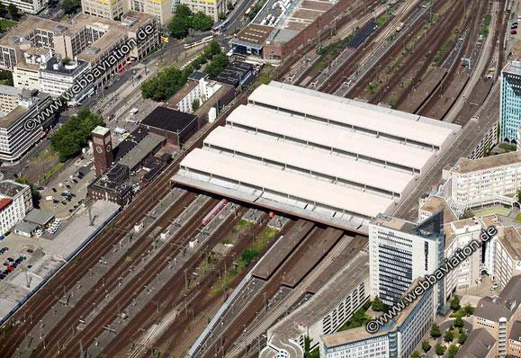 Vista aérea de la estación de Düsseldorf (cortesía de www.webbaviation.de)