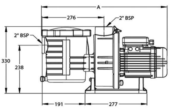 Skizze Pentair Sta-Rite Ultra-Glas S5P3R Poolpumpe Filterpumpe