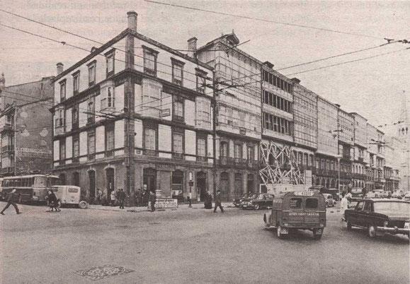 PLAZA DE MINA ESQUINA CALLES COMPOSTELA Y JUANA DE VEGA,AÑO 1.967