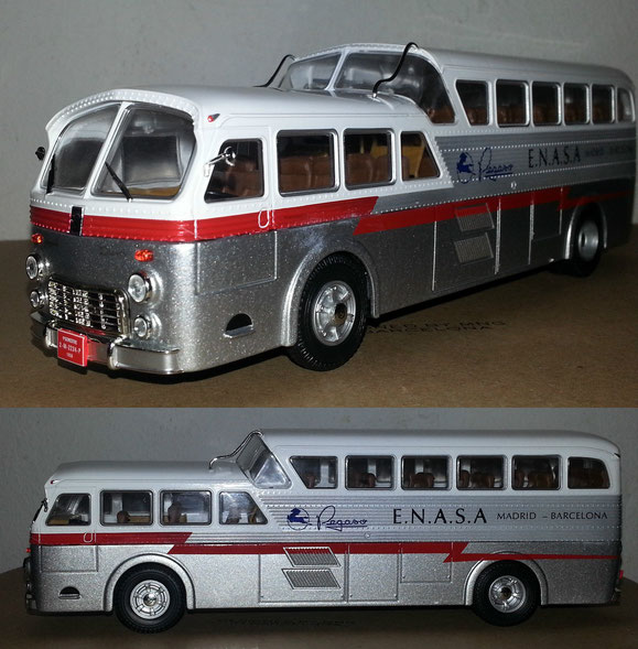 PRECIOSO AUTOBUS PEGASO Z-403 MONOCASCO DE SALVAT.1:43.MADE IN CHINA.