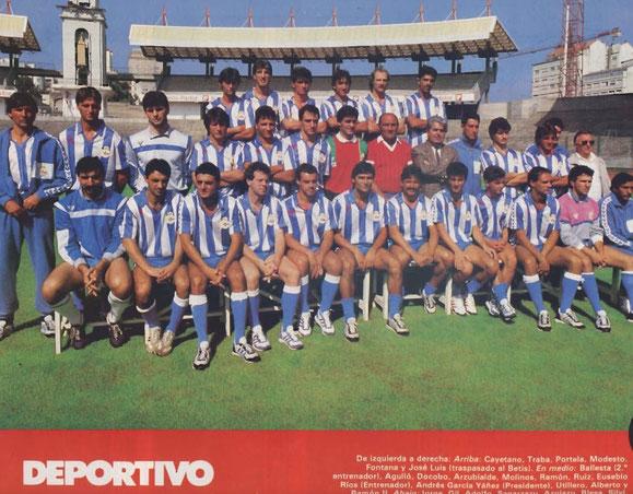 PLANTILLA TEMPORADA 1.987/1.988,LA SEGUNDA DE EUSEBIO RIOS.
