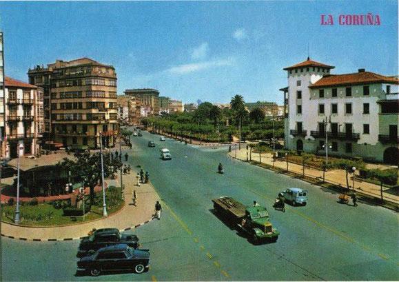 PLAZA DE ORENSE,AÑOS 60.