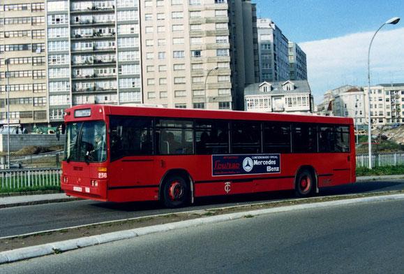 EL 236,EL PRIMER MERCEDES DE LA COMPAÑIA DE TRANVIAS DE LA CORUÑA,DE 1.987,C-AF.