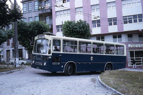 AUTOBUS PEGASO CASTRO CARIDE DE 1.970.EL 48.