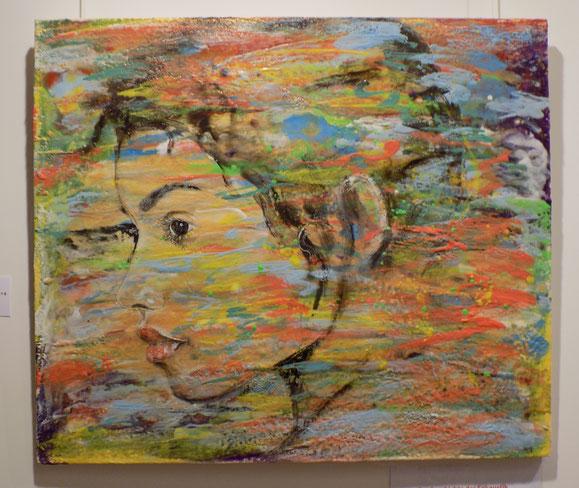Wachsmalerei, Enkaustik, encaustic, Wachs, Blumen Mohn bunt, abstrakte kunst, Auftragsarbeit, Angelika Haßenpflug, living art, malen kunst