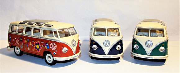 Volkswagen Classical Bus T1,Peace Love,1962, 1:24, Bulli
