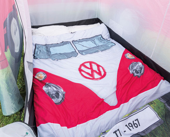 Doppelschlafsack mit VW Bulli Front-Motiv