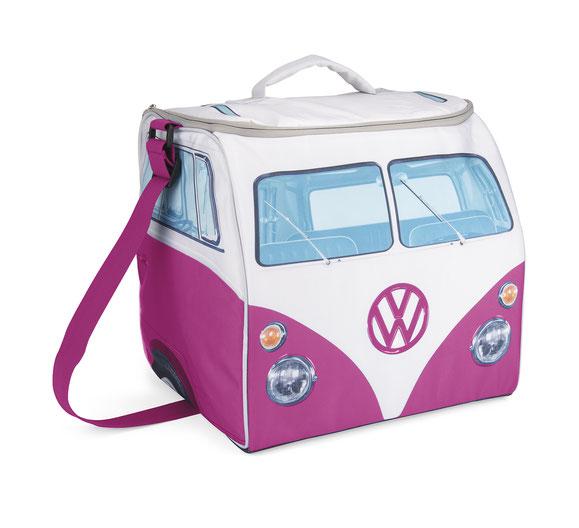 Kühltasche, Design der VW T1 Bus, Fron,  Pink, Kühlakku, Kühlpad