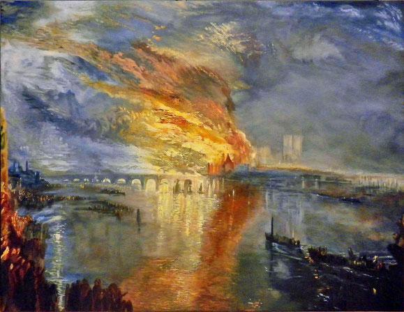 Incendie de la Chambre des Lords (d'après Turner)