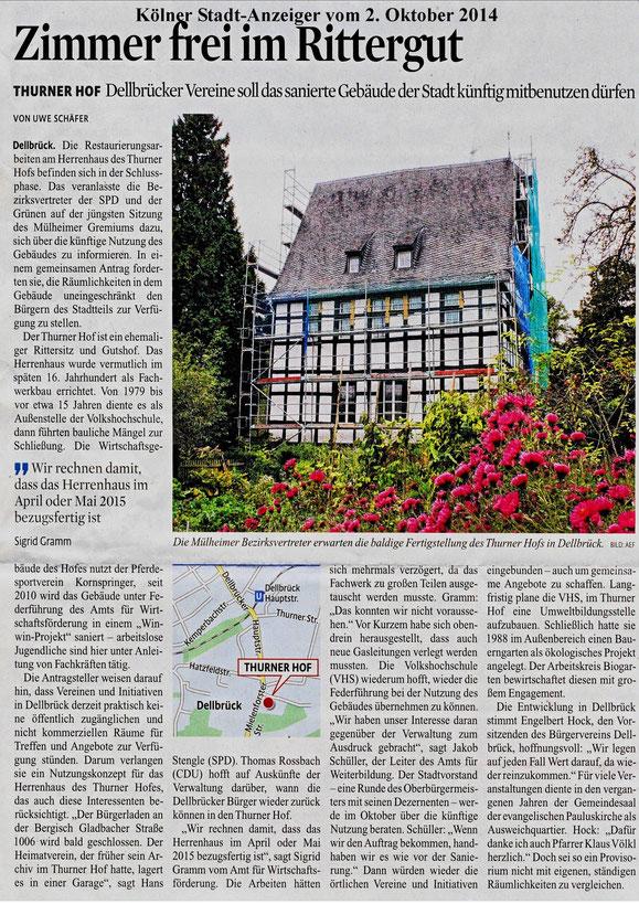 Kölner Stadt-Anzeiger 2.10.2014