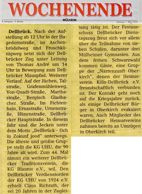 Narrenzunft Oberkirch in Dellbrück