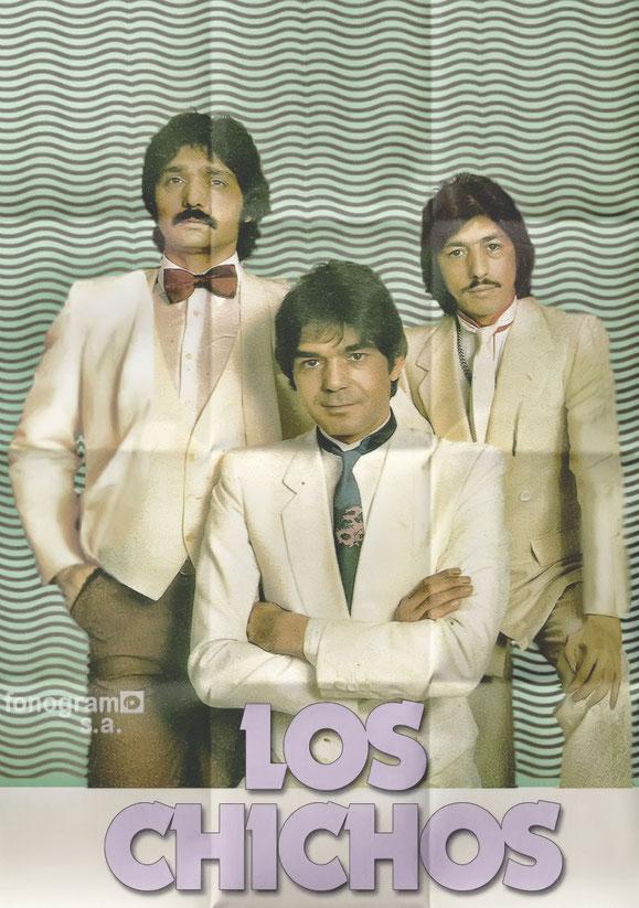 LOS CHICHOS cartel original promocional - 1983