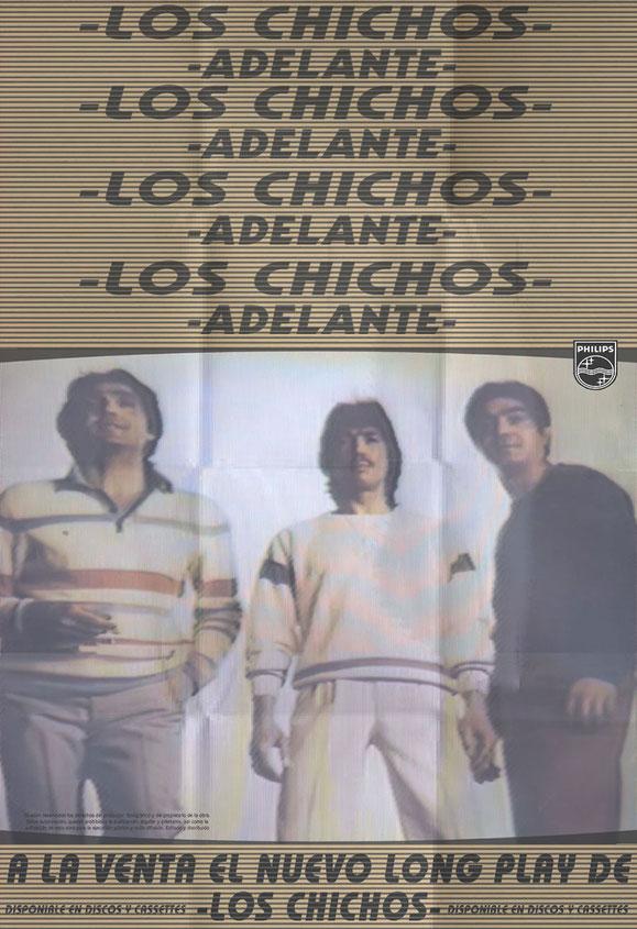 ADELANTE CHICHOS 1984 LOS CHICHOS PÓSTERS