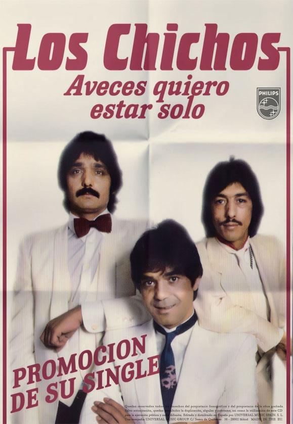 LOS CHICHOS SINGLE PROMOCION QUIERO ESTAR SOLO 1983 POSTER