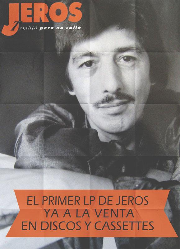 YA ESTÁ ALA VENTA EL NUEVO LP DE JEROS DISPONIBLE EN DISCOS Y MUSICASSETTES  PÓSTERS