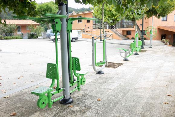Parque bio saludable situado frente ao local da Asociación San Xurxo