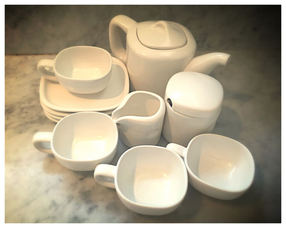 ITEM #17: NEW Handmade Ceramic Teaset with box (value $200)