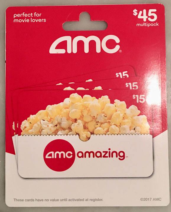 35: AMC Movie Gift Card $45 value
