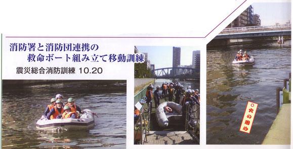 震災総合消防訓練