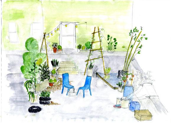 realistischere Version meines Traum-Dachgartens