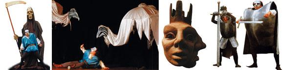 Maskentehater und Großfiguren