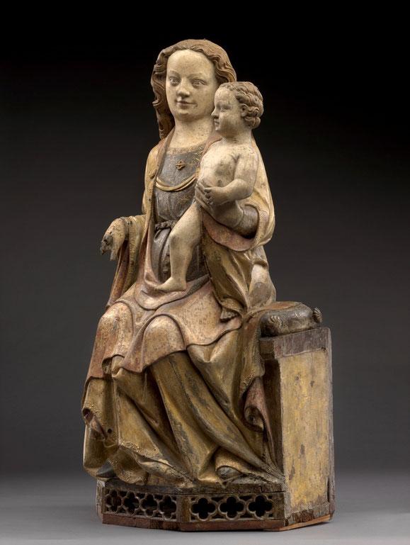 Thronende Maria mit Kind, Köln, um 1330/40. Foto: Antje Voigt