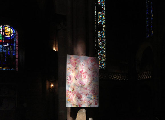 Sylvie Lander-peinture-couleurs-fleurs-jardin #SylvieLander