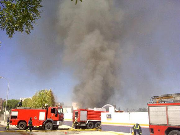 Bomberos actuando en la zona (Imagen: Ayuntamiento de Madrid)