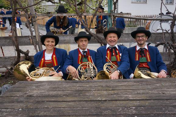 (von rechts): Pfandler Markus, Reheis Andreas, Schiel Rolf, Walch Sylvia