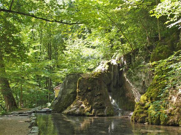Gütersteiner Waserfälle in St. Johann Schwäbische Alb