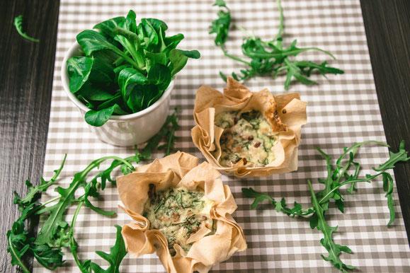 Bild zum Rezept für Kombi-Steamer und Dampfgarer: Quiche mit Kürbis und Würstchen.