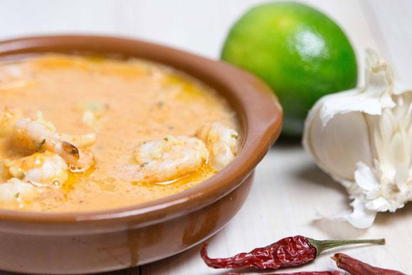 Steamhaus - Rezept für Kombi-Steamer und Dampfgarer: Garnelen in einer Kokos-Curry-Sauce.