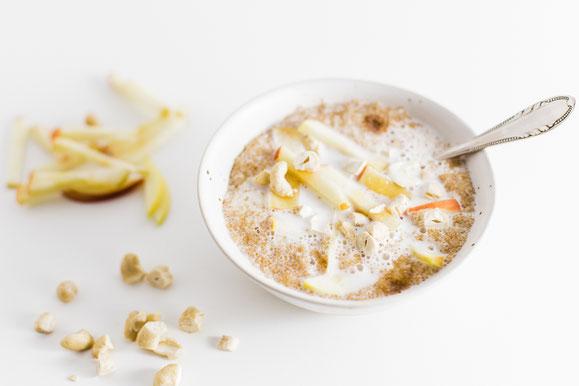 Amaranth Porridge aus dem Dampfgarer.