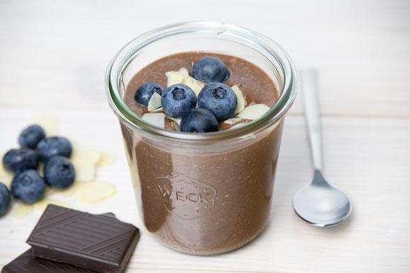 Steamhaus - Rezept für Kombi-Steamer und Dampfgarer: Blaubeeren Mandel Schokoladencrème