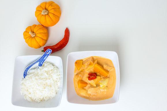 Bild zum Rezept für Steamer und Dampfgarer: Winterliches Red-Thai Curry.