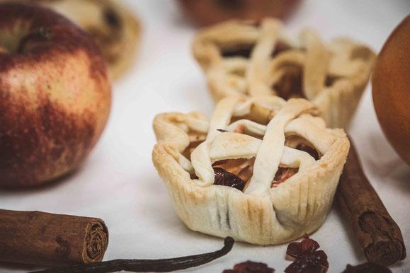 Mini Apfel-Pie aus dem Dampfgarer.