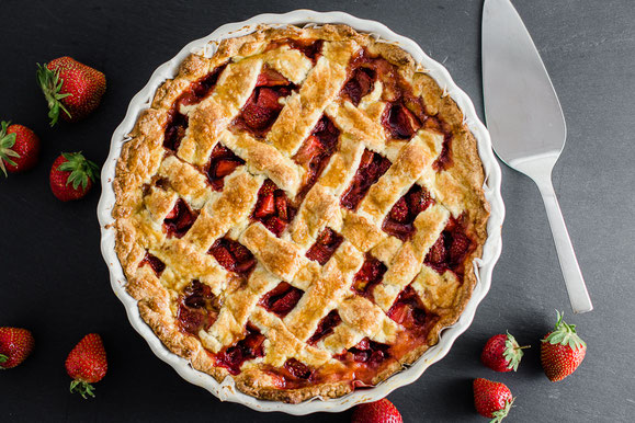 Erdbeer-Crostata aus dem Dampfgarer.