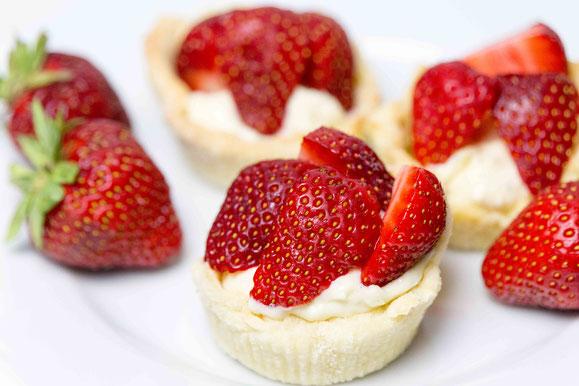 Erdbeer-Törtchen aus dem Dampfgarer
