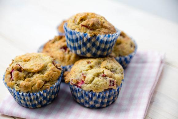 Steamhaus - Rezept für Kombi-Steamer und Dampfgarer: Rhabarber-Ingwer Muffin.