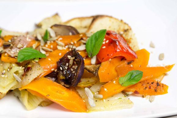 Bild zum Rezept für Steamer und Dampfgarer: gerösteter Fenchelsalat.