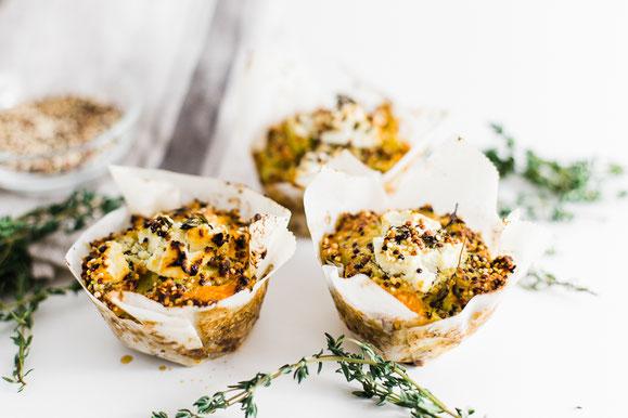Quinoa-Kürbis-Muffins aus dem Dampfgarer.