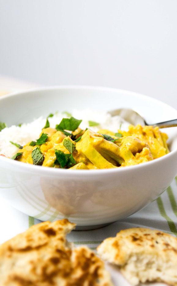 Steamer Rezept: Indisches Curry mit Naan