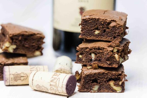 Schokoladen-Rotwein Brownies aus dem Dampfgarer