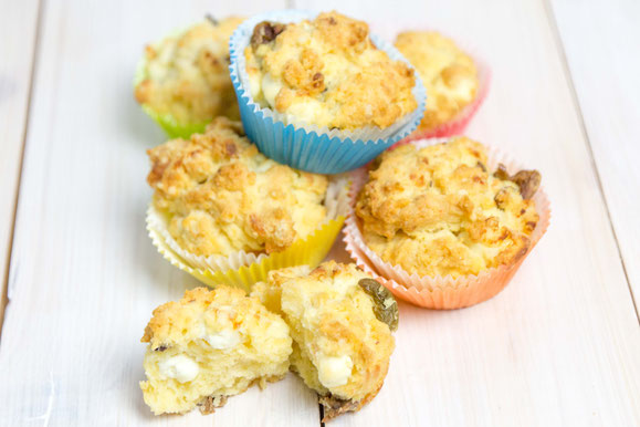 Feta-Oliven Muffins aus dem Dampfgarer.