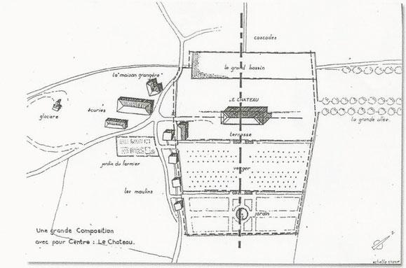 Plan du château des évêques. XVIIIe siècle.