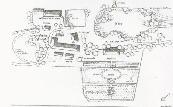 Plan du domaine de Charance. XIXe siècle.