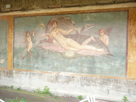 Fresque ornant le mur de la maison de Vénus
