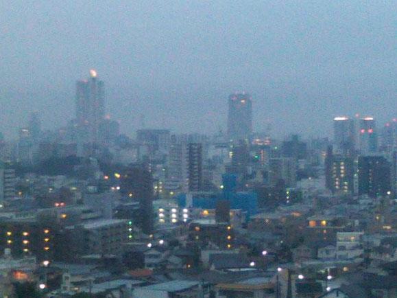 夕方の広島市内