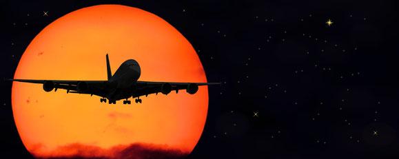 Fliegen Gesundheit viel Schlaf hilft